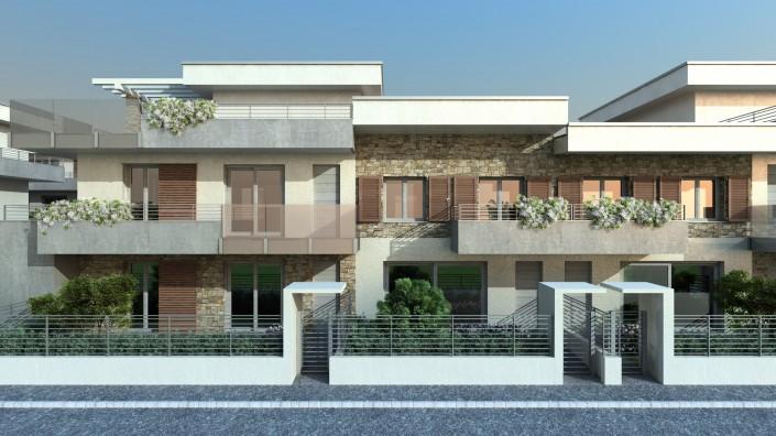Progetto di facciata in un intervento di RealEstate